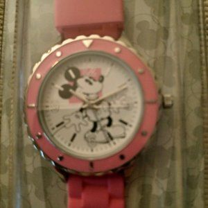 Disney Parks Adult SZ Pink Band with Mickey Mouse